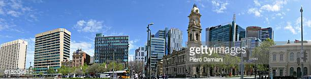 panoramic view of adelaide - adelaide stock pictures, royalty-free photos & images