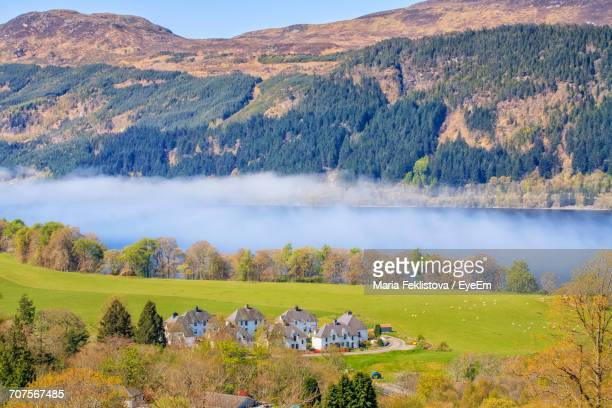 panoramic view of agricultural landscape - loch ness stock pictures, royalty-free photos & images