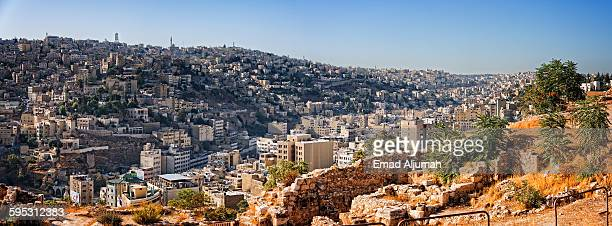 Panoramic view of Amman, Jordan