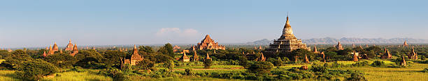 Panoramic View Of Ancient Temples In Bagan 170Mpix XXXXL Size Wall Art