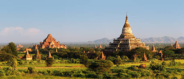 Panoramic View Of Ancient Temples In Bagan 76MPix XXXXL Size Wall Art