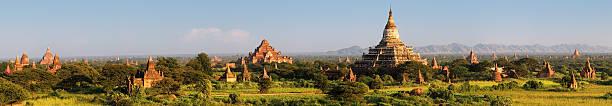 Panoramic View Of Ancient Temples In Bagan Wall Art