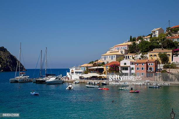 Panoramic view of Assos village on August 15 2016 in Kefallonia Greece