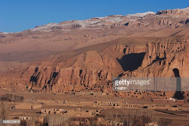 Panoramic View Of Bamiyan And The Escarpment With Hundreds Of Caves And The Niche That Contained The Large Buddha Statue Destroyed By The Taliban In...