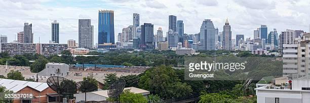vue panoramique sur bangkok - gwengoat photos et images de collection