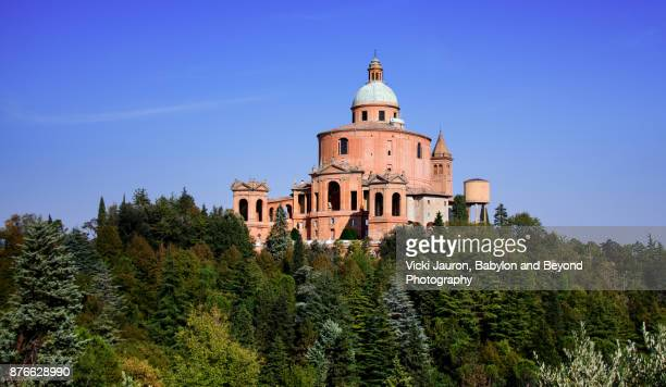 Panoramic View of Basilica San Luca in Bologna, Italy