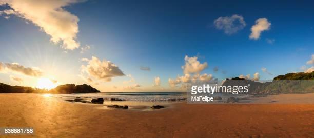 180º panoramic view of beach in Fernando de Noronha