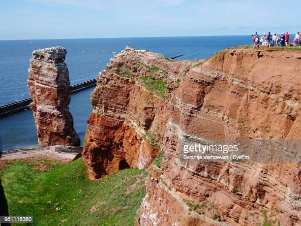 panoramic view of beach - helgoland stock pictures, royalty-free photos & images