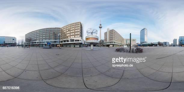360° Panoramic View of Berlin Alexanderplatz