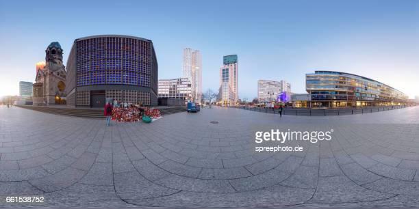 360° Panoramic View of Berlin Breitscheidplatz Square