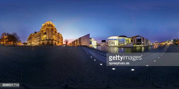 360° Panoramic View of Berlin Government District