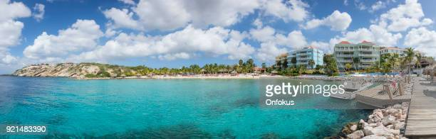 Panoramic View of Blue Bay Beach Resort and Caribbean Sea in Curacao