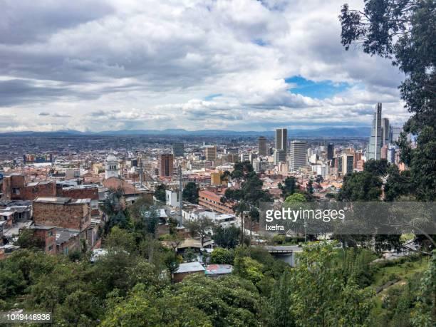 Panoramic view of Bogotá city