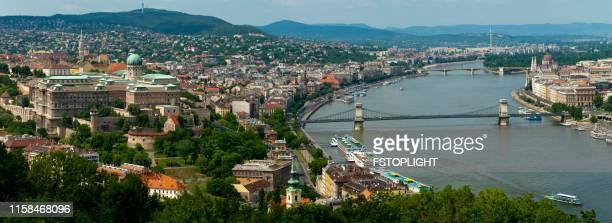 Panoramic view of Budapest city