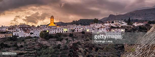 Panoramic view of Canjaya, Alpujarras, Sierra Nevada, Almeria, Spain
