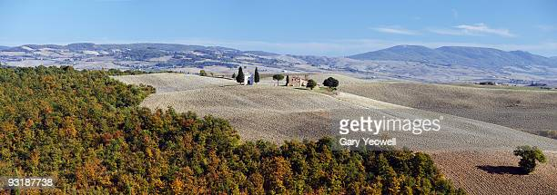 Panoramic view of Church on a hillside