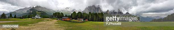 panoramic view of ciampedie - trentino alto adige - italy - pjphoto69 stock pictures, royalty-free photos & images