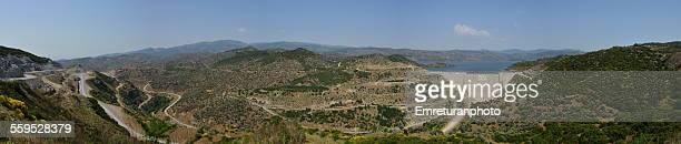 panoramic view of cine dam - emreturanphoto - fotografias e filmes do acervo