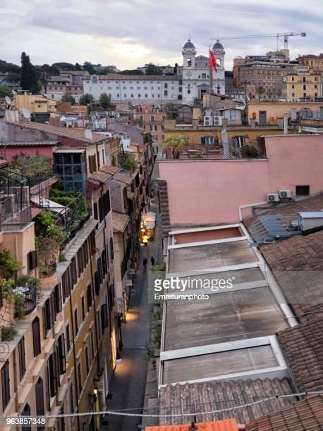 panoramic view of city at dawn,rome. - emreturanphoto stock-fotos und bilder