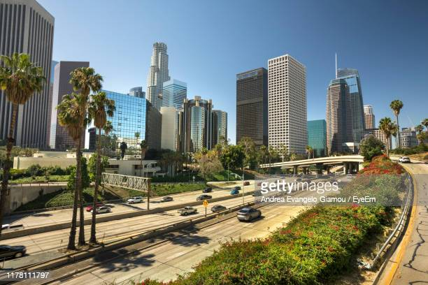 panoramic view of city buildings against sky - hollywood california stock pictures, royalty-free photos & images