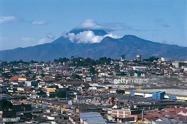 Panoramic view of city near a volcano Guatemala City Guatemala