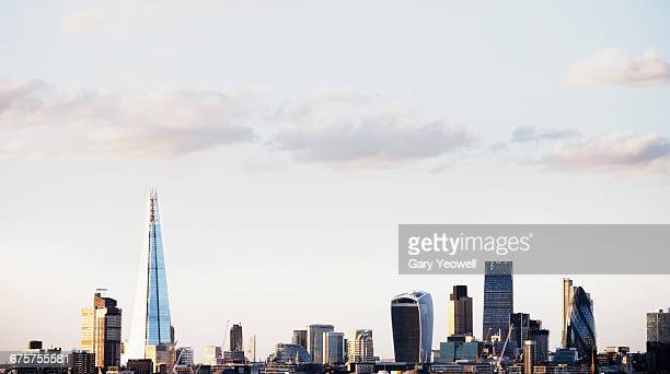 panoramic view of city of london - london skyline stock pictures, royalty-free photos & images