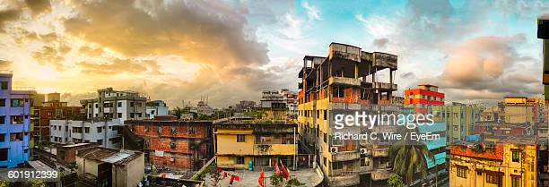 panoramic view of city - bangladesh stock pictures, royalty-free photos & images