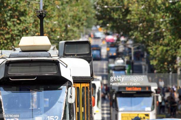 panoramic view of city - tram stock pictures, royalty-free photos & images