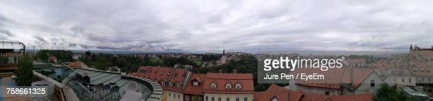 panoramic view of cityscape against sky - kranj stock pictures, royalty-free photos & images
