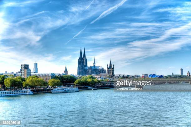 panoramic view of cologne, germany - cologne stock pictures, royalty-free photos & images