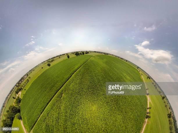 360° panoramisch uitzicht graangebieden