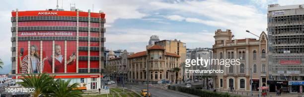 panoramic view of cumhuriyet boulevard in konak,izmir. - emreturanphoto - fotografias e filmes do acervo