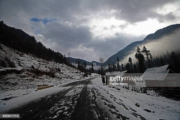 A panoramic view of Daksum area of Indian Administered Kashmir 107 km south of Srinagar The valley received its first snowfall on Wednesday ending an...