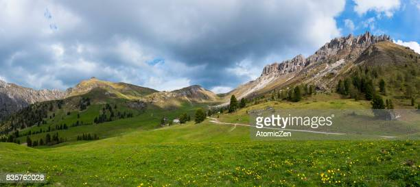 Panoramic view of Dolomites range, Italy