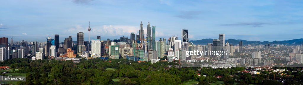 Panoramic view of downtown Kuala Lumpur, Malaysia. : Stock Photo