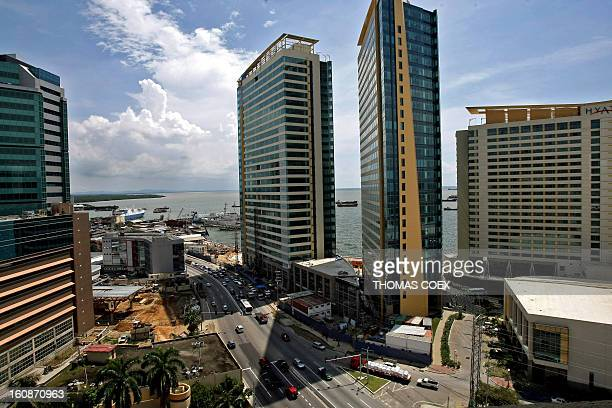 Panoramic view of downtown Port of Spain capital of the island of Trinidad and Tobago on October 15 2008 AFP PHOTO / THOMAS COEX