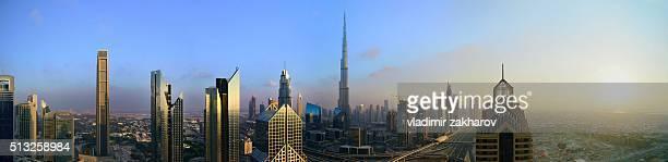 Panoramic view of Dubai Downtown