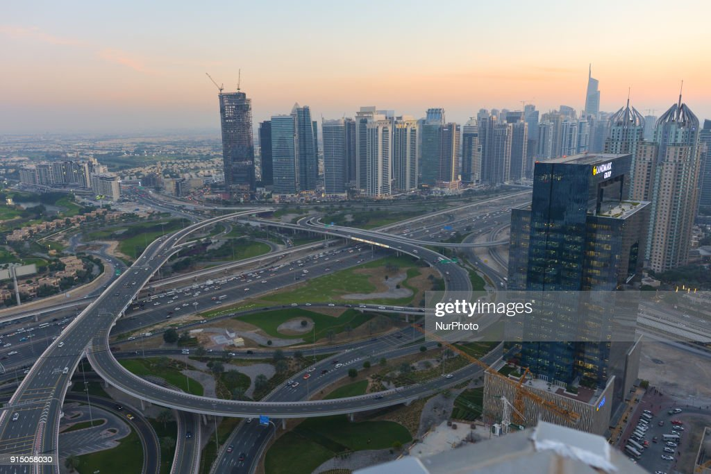 Sunset and evening views of Dubai : News Photo