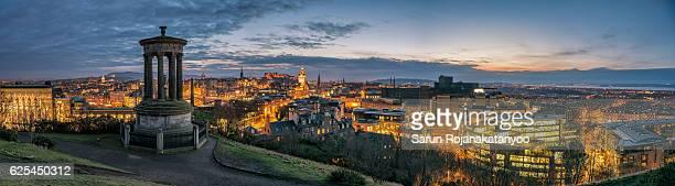 Panoramic View of Edinburgh City