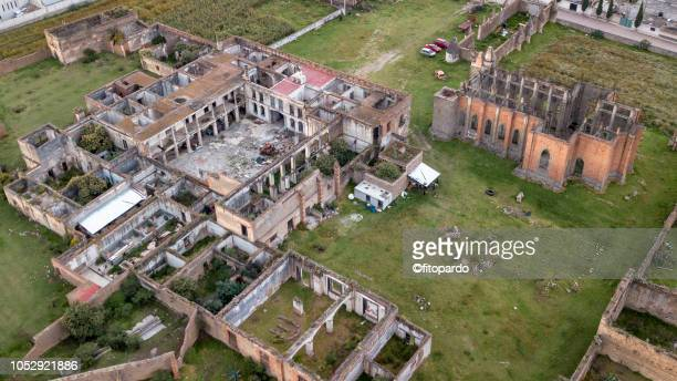 panoramic view of ex hacienda mazapa - rotten com stock photos and pictures