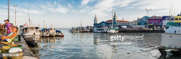 panoramic view of famous ver o peso market - para state stock pictures, royalty-free photos & images