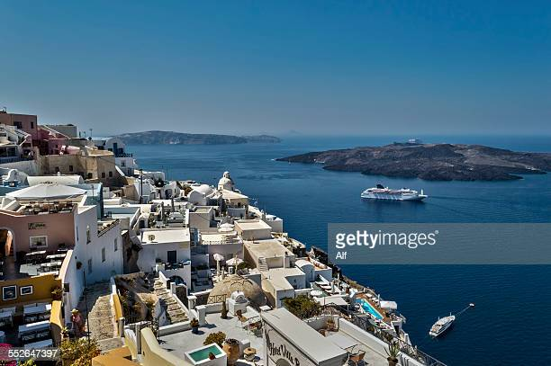 Panoramic view of Fira, Santorini, Greece