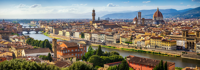 panoramic view of Florence Skyline at Sunset. Italy 1088920100