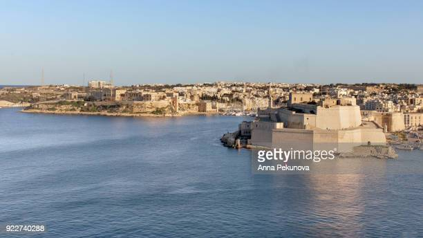 Panoramic view of Fort Saint Angelo, Valletta, Malta