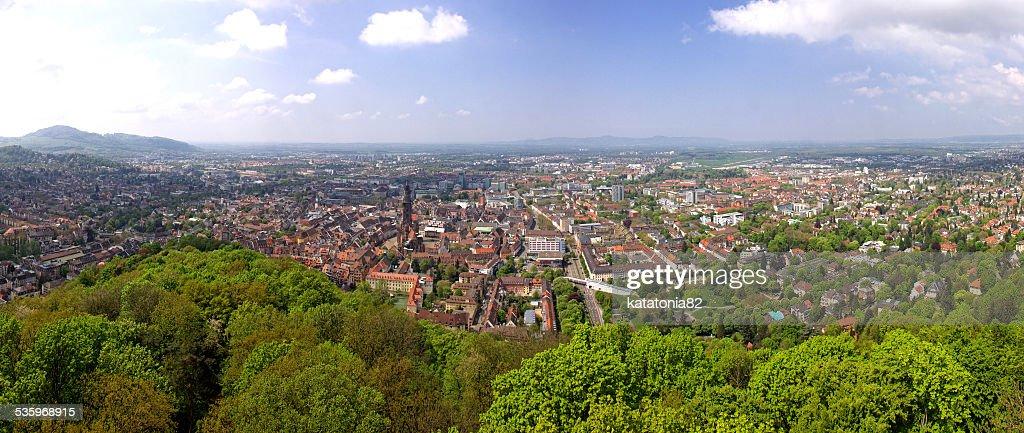 Panoramic view of Freiburg im Breisgau, Germany : Stock Photo