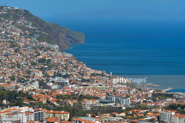 A panoramic view of Funchal On Monday April 23 in Funchal Madeira Island Portugal