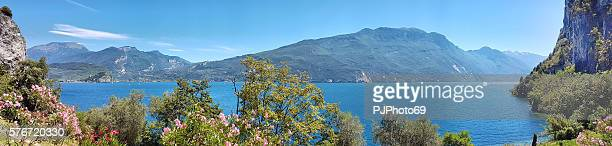 Panoramic view of Garda Lake - North side