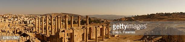panoramic view of gerasa - roman decapolis city stock pictures, royalty-free photos & images