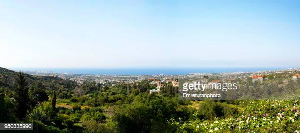 panoramic view of girne shore in northern cyprus. - emreturanphoto ストックフォトと画像