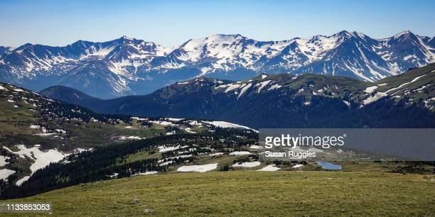 Panoramic View of Gore Range and Continental Divide, Rocky Mountain National Park, Colorado